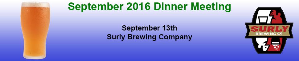 September 2016 Dinner Meeting